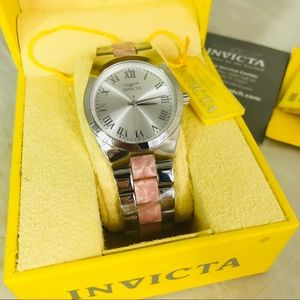 Invicta Womens Wristwatch New Silver and Pink